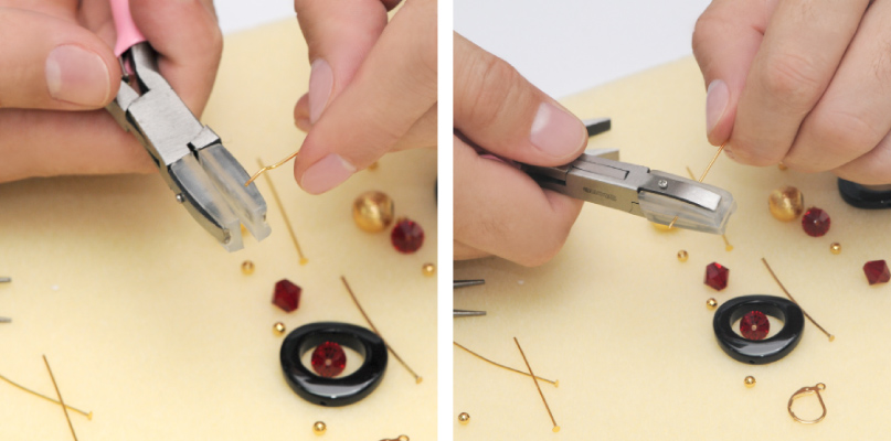 herramientas básicas para hacer bisutería: Pinza plana de punta de silicona